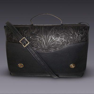 Briefcase w/ flap Black