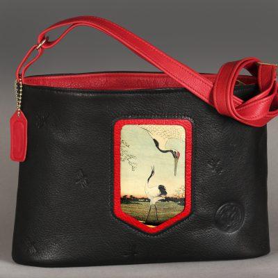 "Lg. Japoné | ""Baraboo Crane"" in Black w/ red trim"
