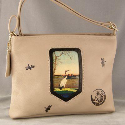 Moni: Taupe W/ Wading Crane